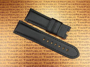 New 24mm PAM Black Leather Kevlar Strap TOILE Fabric Deployment Watch Band 24 mm $32.50