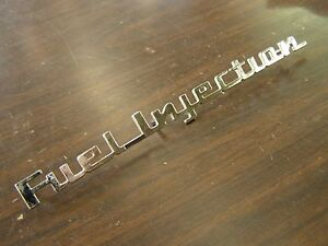 Nos Oem Gm Chevrolet 1957 Corvette Fuel Injection Emblem Script Bel Air Ornament