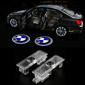 4x No Drill Led Projector Cortesy Door Light Welcome Lamp Bmw Logo E90 E91 X3