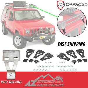 Jcr Offroad Roof Rack Mounts 6 Piece Set Bare Steel 84 01 Jeep Cherokee Xj