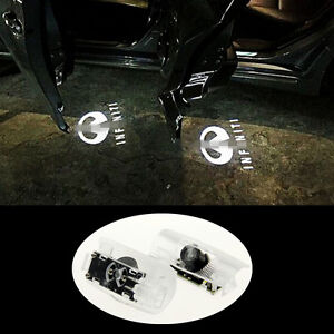 2xno Drill New Led Door Welcome Light Shadow Projector For Infinity Ex 2008 2014