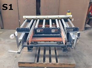 48 X 22 Pneumatic Air Lift Cross belt Take off Roller Conveyor