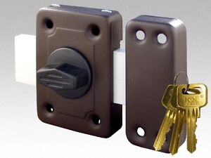 gama High Quality Universal Cylinder Barrel Door Rim Lock 3 Keys