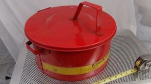 Justrite Bench Can No 10770 10775 3 Gallon Never Used
