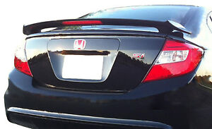 Painted Spoiler For A Honda Civic 4 door 2 post Factory Spoiler 2012 2015