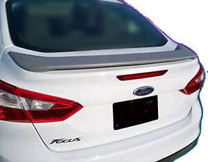 Painted All Colors Ford Focus 4 Door Factory Style Spoiler 2012 2014