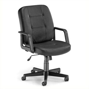 Ofm Lo back Executive Leather Office Chair In Black