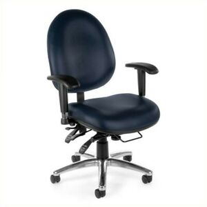 Ofm 24 hour Big And Tall Vinyl Computer Task Office Chair In Navy