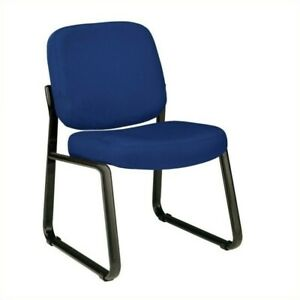 Ofm Armless Reception Chair In Navy Icon Fabric