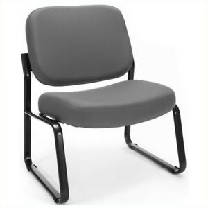 Ofm Big And Tall Reception Armless Guest Chair In Gray Transitional