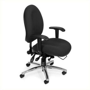 Ofm 24 hour Big And Tall Computer Task Office Chair In Black