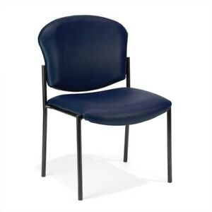 Ofm Manor Series Anti bacterial Guest Reception Chair In Navy