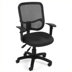 Ofm Mesh Comfort Series Ergonomic Task Office Chair With Arms In Black