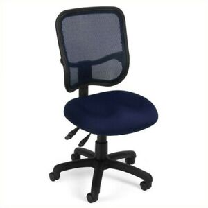 Ofm Mesh Comfort Series Ergonomic Task Office Chair Chairs In Navy