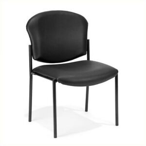 Ofm Manor Series Anti bacterial Guest Reception Chair In Black