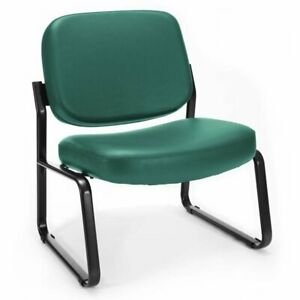 Ofm Big And Tall Faux Leather Guest Reception Chair In Teal