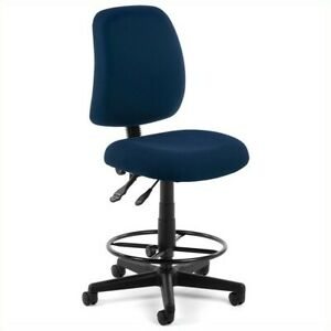 Ofm Posture Task Drafting Chair With Drafting Kit In Navy