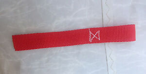 Winch Hook Pull Strap 8 Inch Red Single Loop