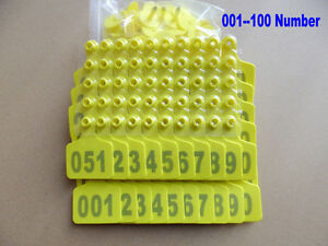 001 100 Number Animal Cattle Use Ear Tag Livestock Tags Labels Cattle Special