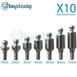 10x Ball Attachment Abutment Dental Implant Internal Hex Fit With Ab Mis Zimmer