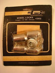 Mr Gasket Co Wheels Locks 2932 Forged 1 2 Right Hand Chrome Nos Set