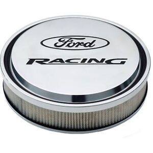 Proform 302 383 Slant Edge Ford Racing 13 Air Cleaner Polished Recessed Logo