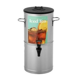 Bloomfield 8802 5g Iced Tea Dispenser With Handles 5 gallon Stainless Steel 1