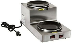Bloomfield 8708dsu Coffee Warmer 2 station Step up Stainless Steel 14 1 2 D