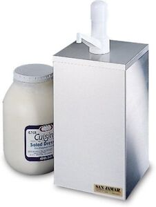 San Jamar P9800 1 Gallon Condiment Pump Box Dispenser