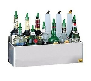 San Jamar Stainless Steel Double Tier Speed Rack Bottle Holder 8 5 X 41 5 X 7 7