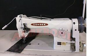 New Consew 206rb 5 Upholstery Sewing Machine W 3 4hp Servo Motor Kd Led light