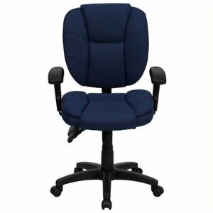 Scranton Co Mid back Ergonomic Office Chair With Arms In Navy Blue