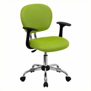 Scranton Co Mid back Mesh Office Chair With Arms In Apple Green