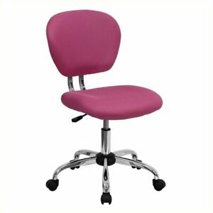Scranton Co Mid back Mesh Task Office Chair In Pink