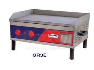 New Commercial Electric Countertop Griddle 25 220v 60hz 4 200 Watts etl Gr3e