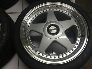 18 Avant Garde M240 Staggered Silver Wheels Rims Tires Fits Acura Tl