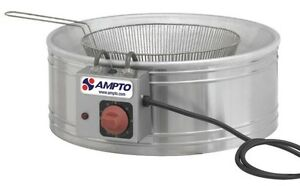 New 13 Round Electric Fryer 7 Liters Ideal For Funnel Cakes Tfslc Etl