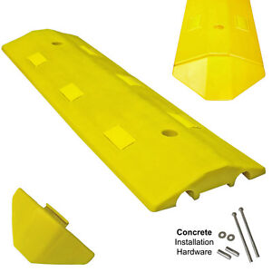 Concrete Light Weight Speed Bump Traffic Road Safety Control 3 Yellow