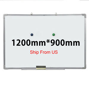 48 x36 Single Side Magnetic Writing Whiteboard Dry Erase Board Office W Eraser