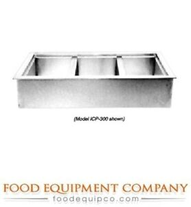 Wells Icp 600 Cold Food Unit Drop in Iced Cold Pan 6 pan Size With Drain