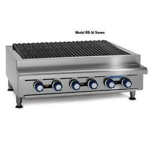 Irb 36 36 Commercial Gas Radiant Char Broiler Grill Counter Top