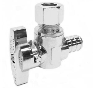 10 1 4 Turn Angle Stop Valve 1 2 Pex X 3 8 Od Compression Lead free