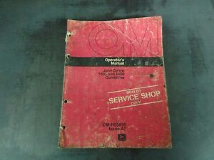 John Deere 3300 And 4400 Combines Operator s Manual Om h95656 Issue A7