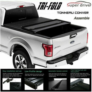 1997 2003 Ford F150 Premium Soft Lock Tri Fold Tonneau Cover 6 5ft 78 Short Bed
