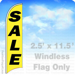 Sale Windless Swooper Flag Feather Banner Sign 2 5 x11 5 Yb