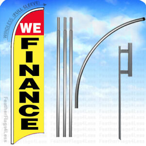 We Finance Windless Swooper Flag Feather 15 Kit Banner Sign Yb