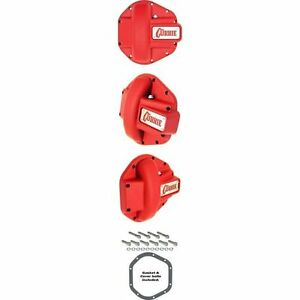 Currie 44 1005ctr Iron Diff Cover For Rockjock Dana 44 Housings Textured Red