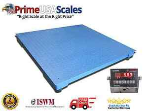5 000 Lb X 1 Lb Optima Ntep 3 X 3 Floor Pallet Scale With Indicator New