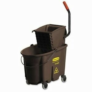 Rubbermaid Commercial Wavebrake 35 quart Bucket wringer Combinations Brown On