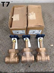 Nibco T 134 1 1 4 Threaded Manual Bronze Gate Valve Lot Of 3